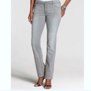 J. Jill Slim Fit Straight Leg Jeans Gray Size 8